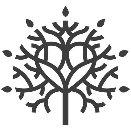 Baglandet logo kun træ uden navn