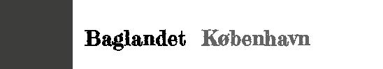 Baglandet København Logo