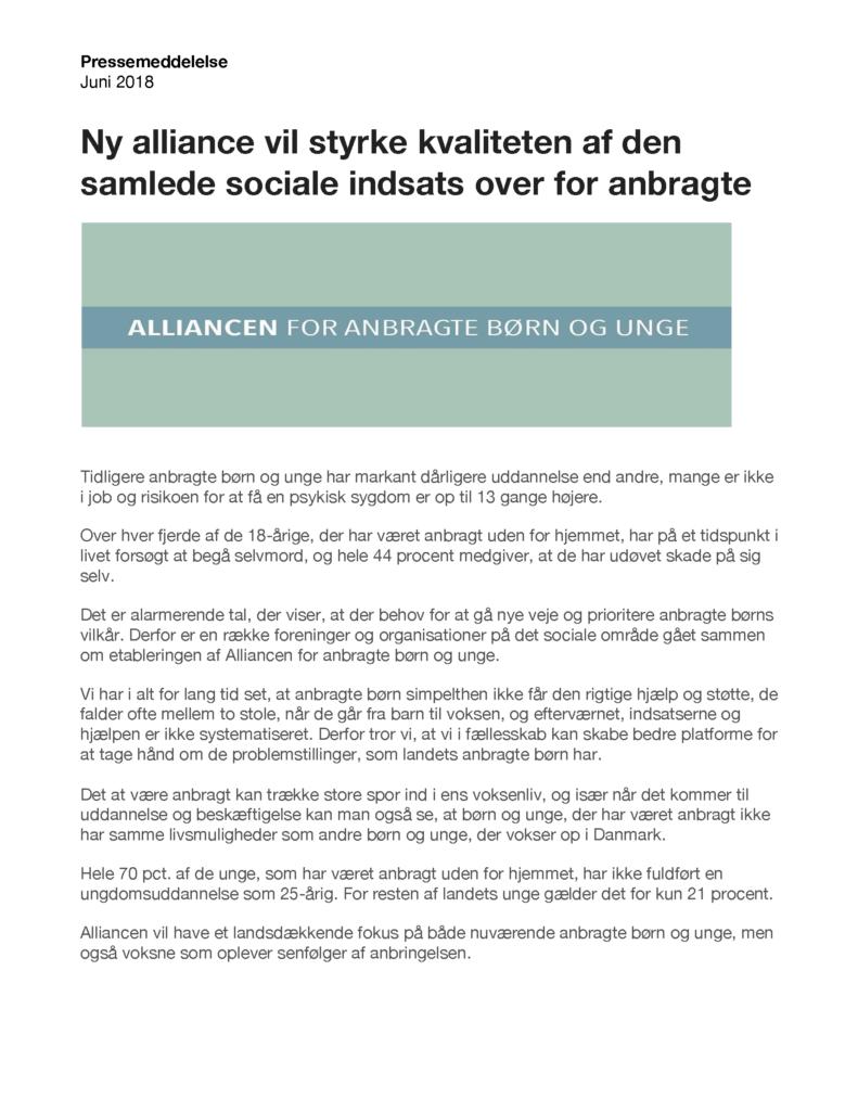 png, Pressemeddelelse om Alliancen for Anbragte Børn og Unge, Baglandet København